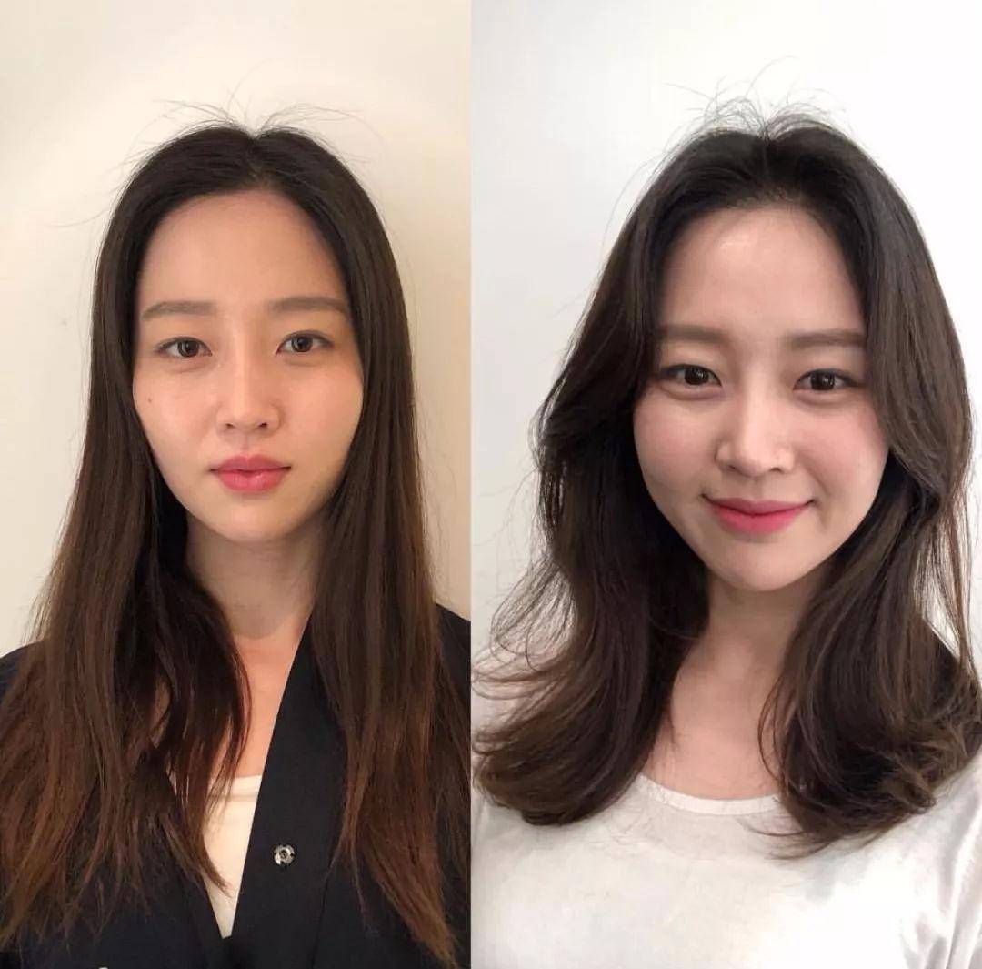 不要再留黑长直发型了,这些脸型的妹子,头发卷一点,会图片