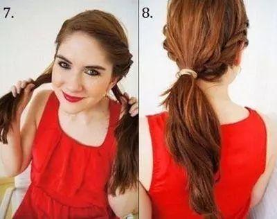 2款中年女人气质盘发图解,非常简单实用的发型!