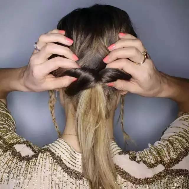 教你怎么把编发盘发弄的美美哒图片
