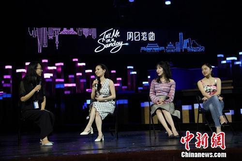 音乐剧首演后,娄艺潇等接受采访。四海一家供图