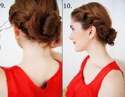 2款中年女人气质盘发图解,非常简单实用的发型!图片
