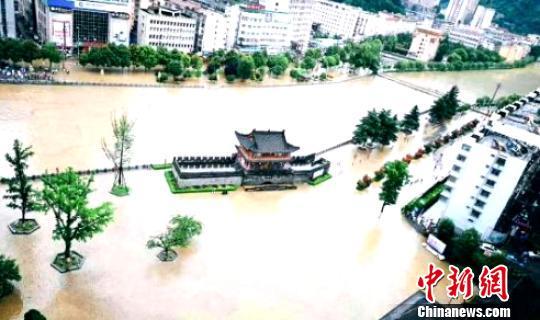 受灾情况。 陕西省民政厅 摄