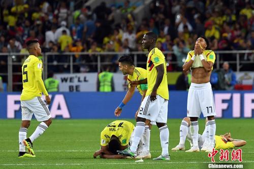 莫西卡的小动作也没能为哥伦比亚带来胜利,反而随着电视转播的镜头广为出传播。 <a target='_blank' href='http://www.chinanews.com/'>中新社</a>记者 毛建军 摄