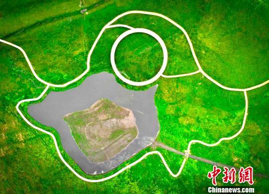 图为航拍小滦河国家湿地公园 张桂芹 摄