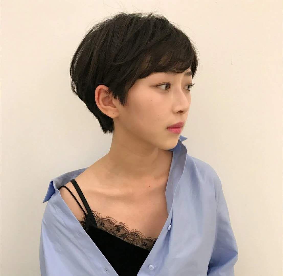 发型剪像男孩子的女生时,有短发v发型?奶女生腔图片