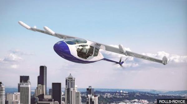 罗罗公司研发混合动力飞行出租车:采用燃气轮机供电