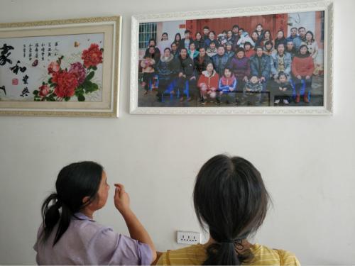 一位村民幸福美满的家庭。周禹龙摄