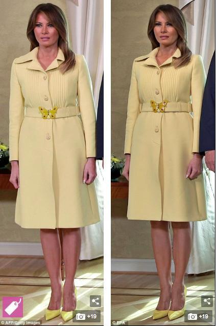 """梅兰妮见普京""""黄""""袍加身、王妃梅根一穿就显"""