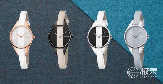 CK发布新款撞色条纹设计反叛腕表