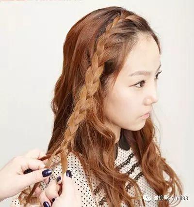 刘海怎么编辫子图解,有甜美的气息!