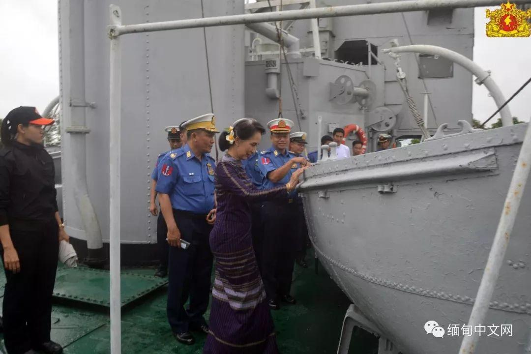 缅甸:昂山素季女士参观眉育号,该军舰有重大历史意义