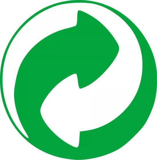 出现这个图片的瓶子,一般代表的就是可以降解的绿色环保标志.