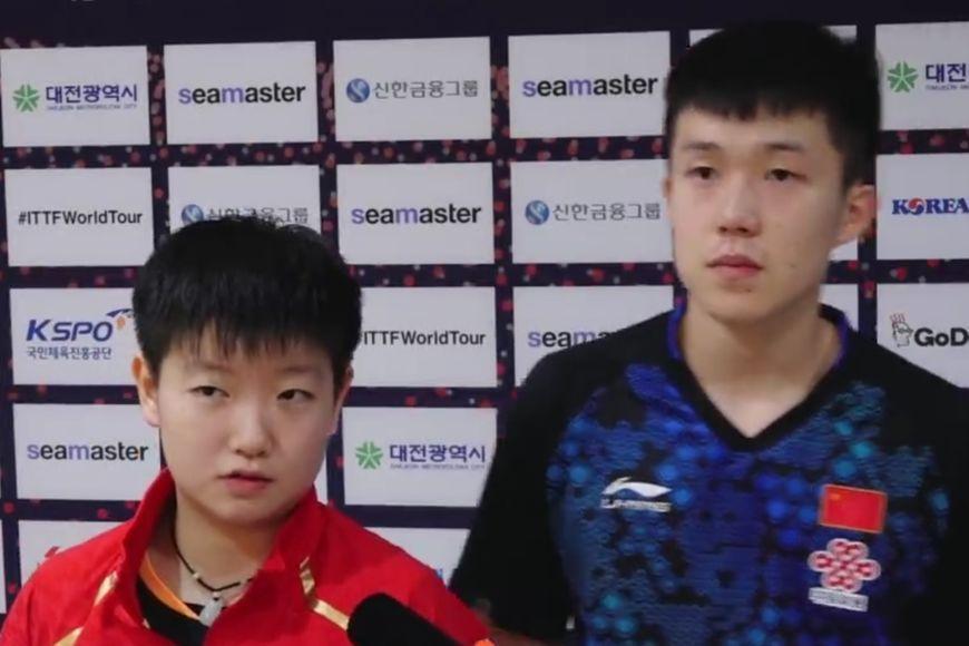 国乒00后组合进混双决赛 韩国选手摔拍泄愤仍出局