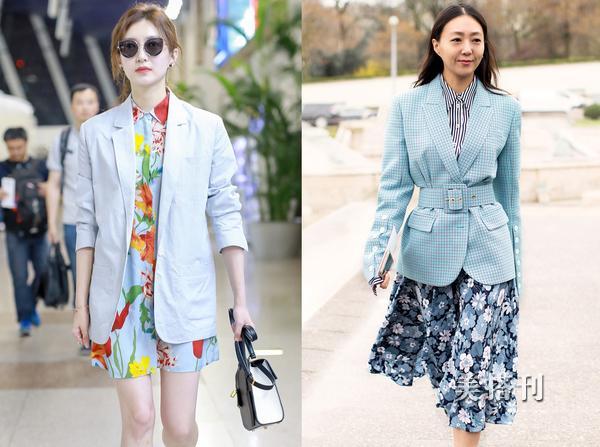 西装搭配裙子,让你这个夏天做个像刘亦菲一样的天仙攻