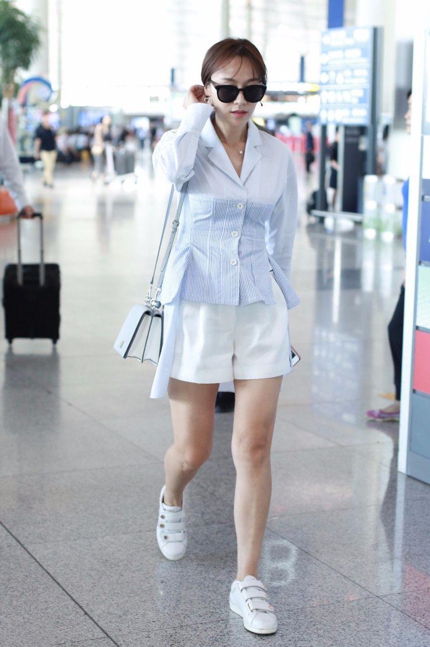 叶一茜虽美,但真不懂时尚!网友:这裤子真破,还不如剪成短裤!图片