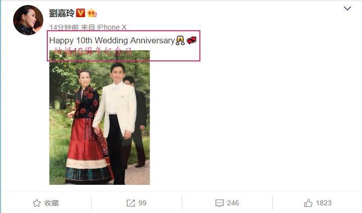 刘嘉玲晒婚纱照庆最新产品代理信结婚10周年,与梁朝伟恩爱爆表