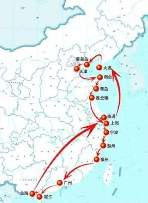 中国十四个沿海开放城市