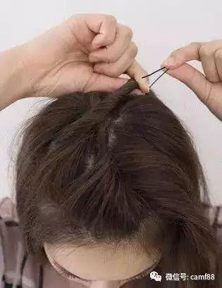 短发丸子头扎法图解,做个时尚美女!