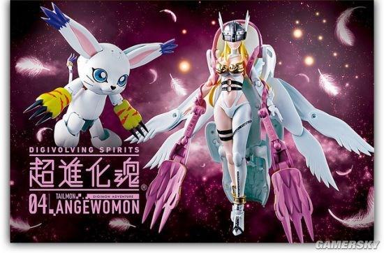 《数码宝贝》神圣天使兽模型:可动可变形