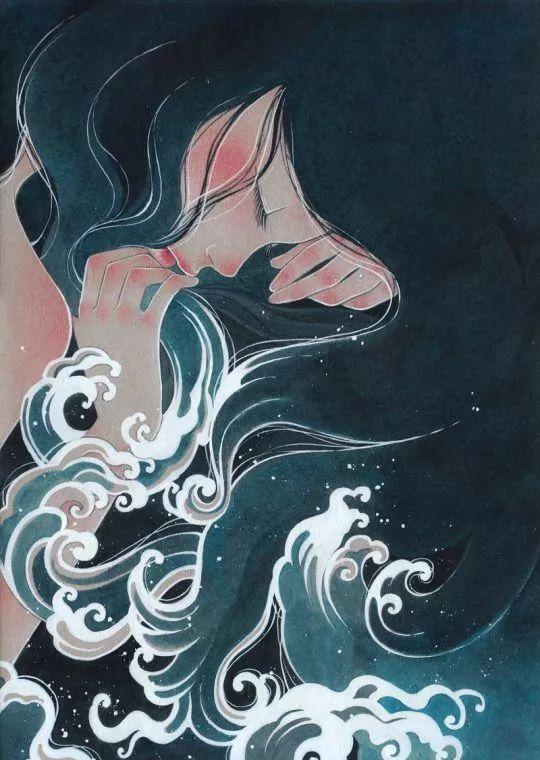 夏娃的月亮树异愫:南美插画师victoriarivero笔下的时尚女孩
