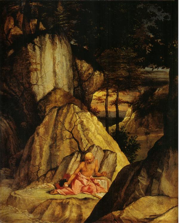 画面中风景的相互对立,加强了孩童和萨提尔寓意上的区别.