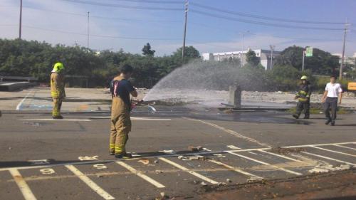 事故现场。台湾《联合报》记者黄宣翰/摄影
