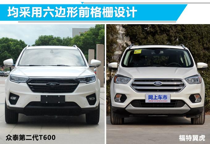 众泰第二代T600新SUV实拍图 前脸酷似福特翼虎-图2