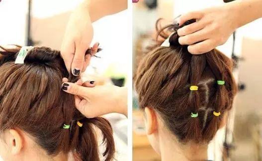 教你短发扎丸子头的方法