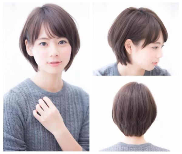 2018流行圆弧短发,圆弧短发+发尾内收,瘦脸减龄利器