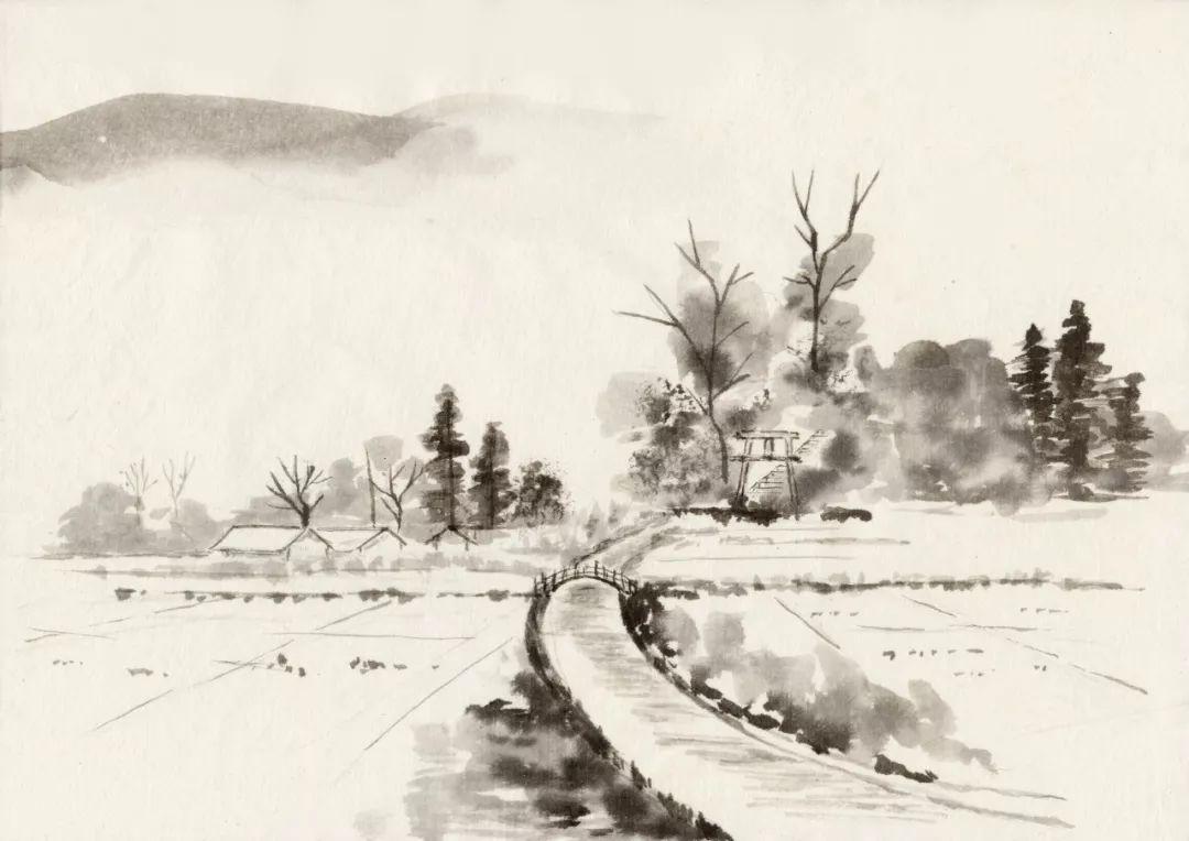 国学资讯  这首诗也是一幅风雪夜归图,诗人用极其凝炼的诗笔,描画出一