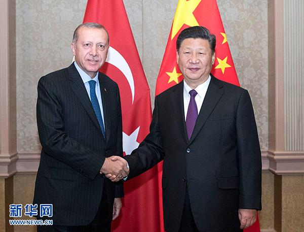 习近平访问土耳其总统埃尔多安:推进紧张互助项目尽早落地