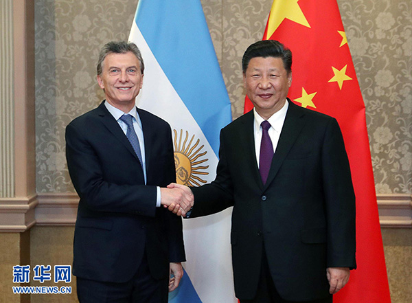 习近平会见阿根廷总统马克里:推动贸易自由化便利化