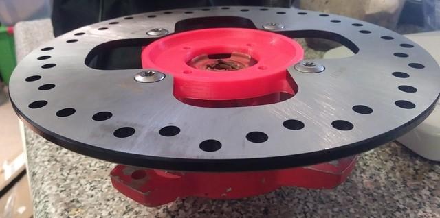 摩托车刹车系统改装3D打印快速验证装配