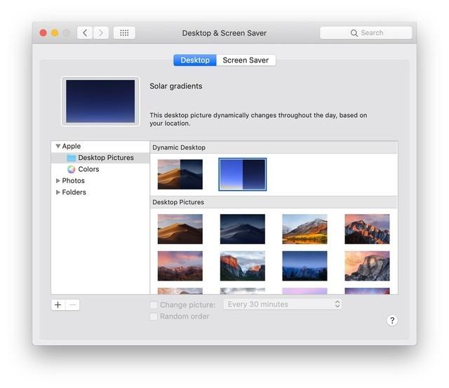 macOS 10.14 beta 5新增多款壁纸 可强制eGPU