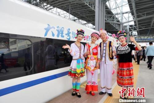 资料图:昆(明)楚(雄)大(理)铁路开通运营。 钟欣 摄