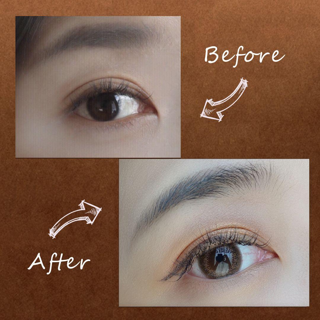 淡妆画眼线步骤