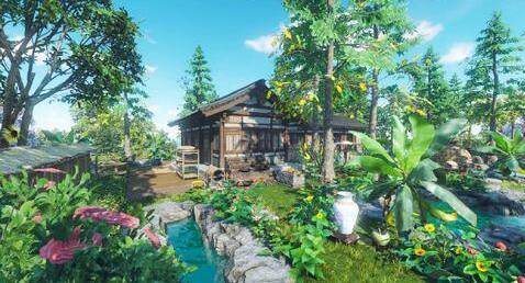 《逆水寒》用庄园大神打造热带园林,让人有种逛夏威夷