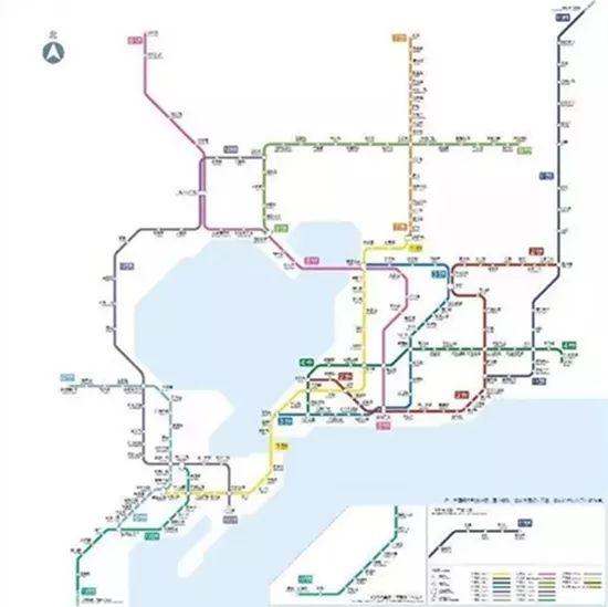青岛地铁1-16号线规划图