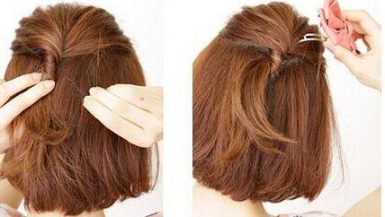 > 正文   短发怎么扎好看图解: step1:先用卷发棒烫卷发尾.