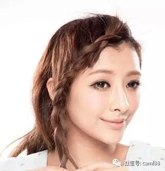 三股刘海麻花辫编法图解,展现你完美的脸型!