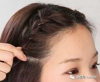 斜刘海怎么编辫子好看,中分披肩发的女生最适合!