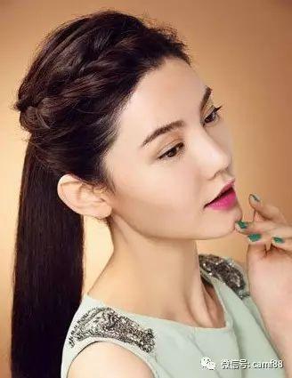 斜刘海编发教程图解这款简单的刘海编发发型完成了.