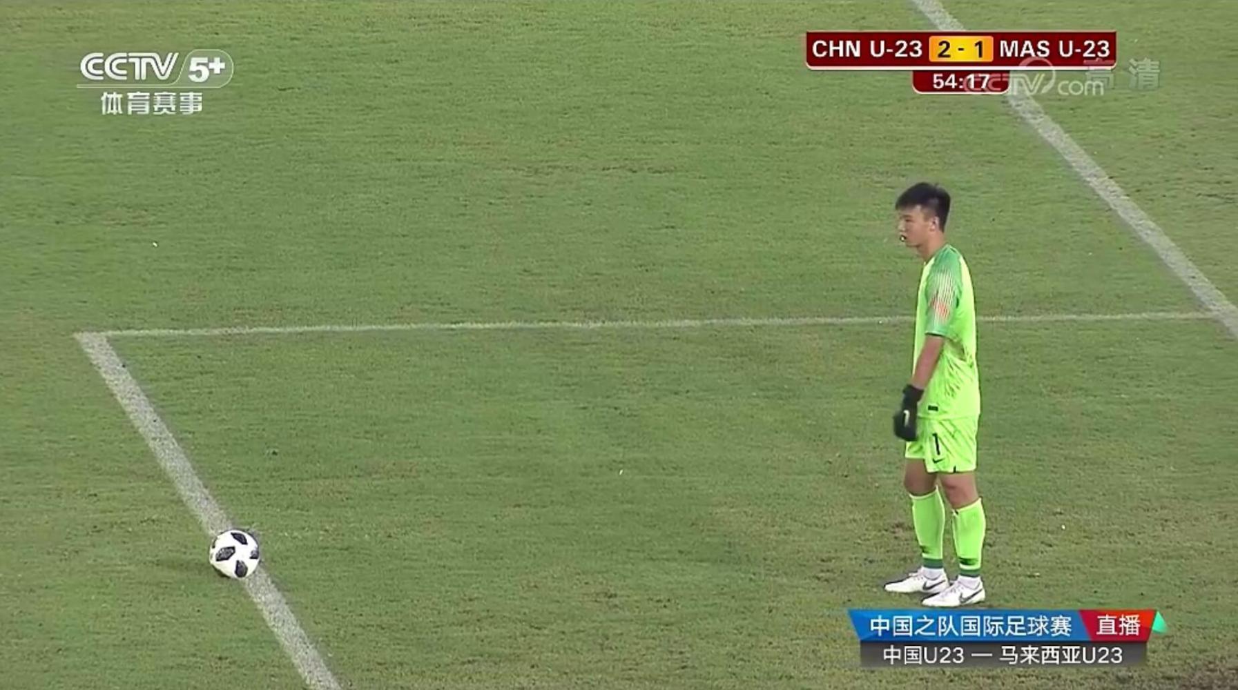 国足U23热身2比1逆转马来西亚U23, 张玉宁陈哲超建功, 里皮未现身
