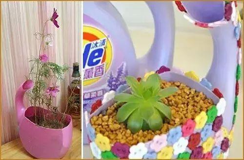 洗洗液瓶子做花盆步骤