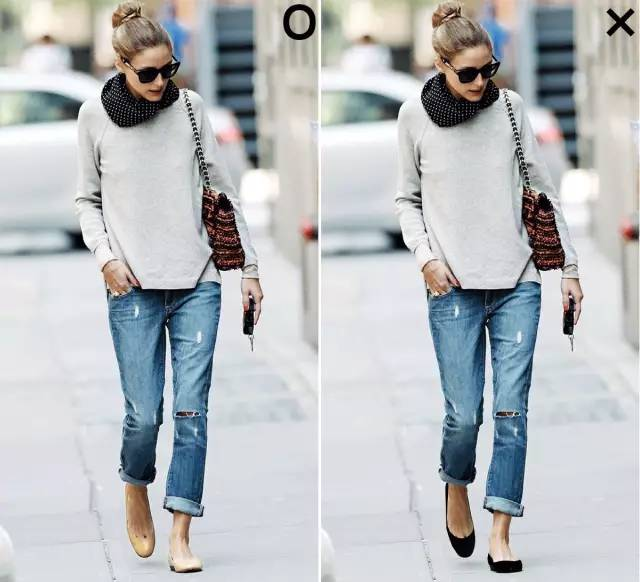而前面m姐提到容易显矮的绑带鞋选择裸色款式就能够避免视觉上分割