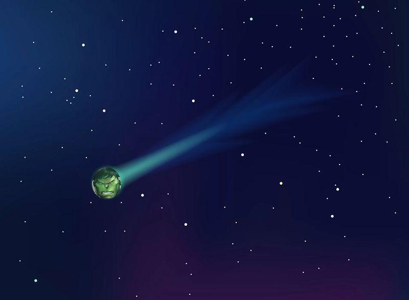 一颗闪着绿光的星球此时正掠过地球上空,目前它已被科学家锁定