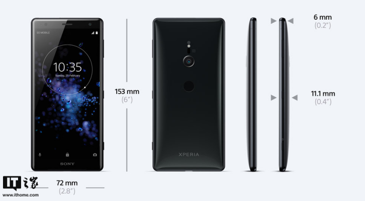 索尼XZ3手机曝光:电池扎心