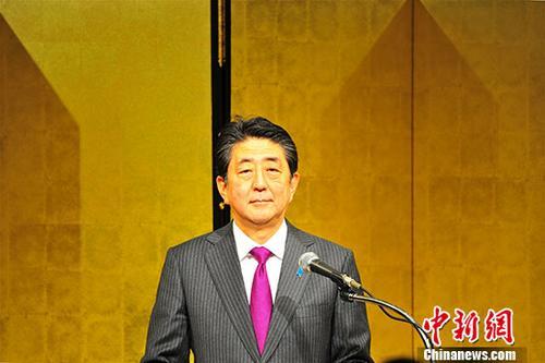 资料图:日本首相安倍晋三。 中新社记者 吕少威 摄
