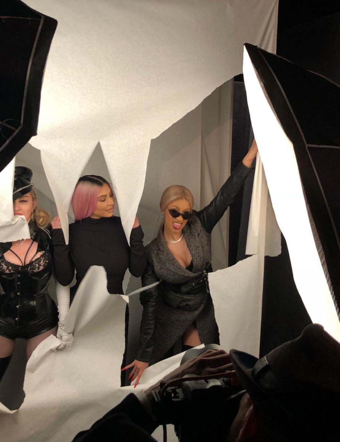 kim-kardashian-cardi-b-madonna-photoshoot-galore