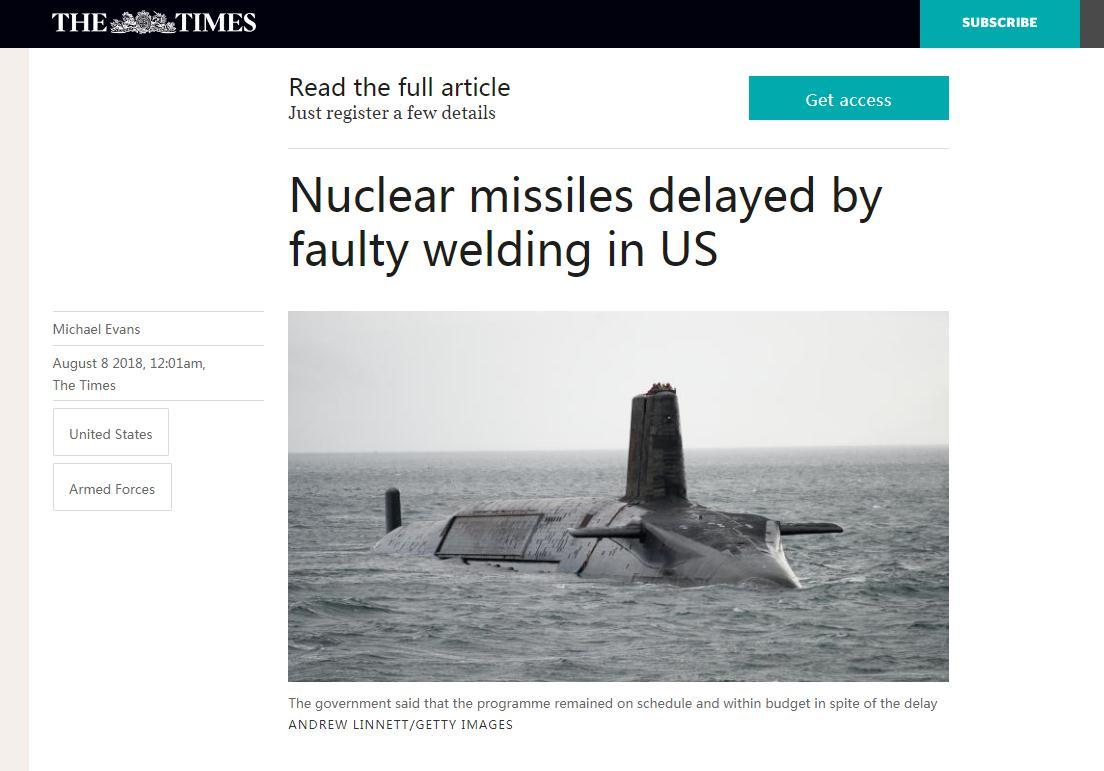 """美国产的关键武器部件,把英国皇家海军给""""坑了""""!"""